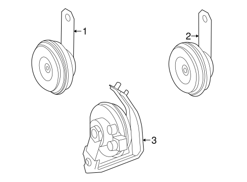 ELECTRICAL/HORN for 1999 Toyota Solara #1