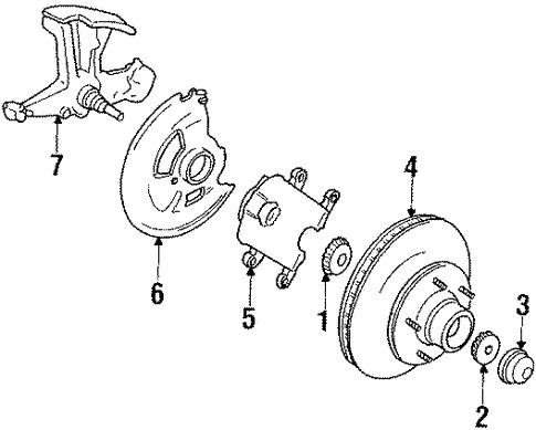 Oem 1989 Chevrolet V3500 Front Brakes Parts