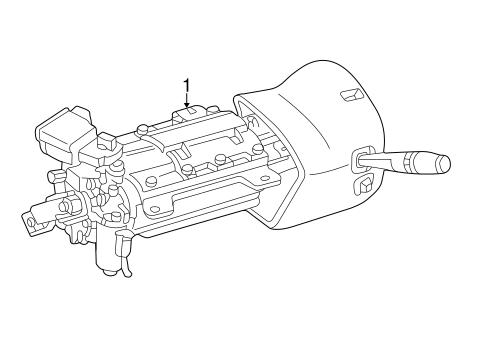 steering column assembly for 2003 ford thunderbird #0