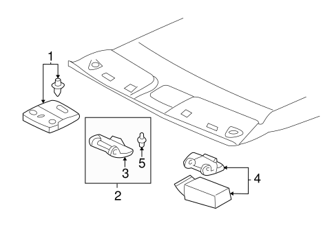 BODY/OVERHEAD CONSOLE for 2003 Toyota Tundra #1