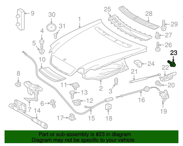 Lower bracket bolt mercedes benz 202 990 25 01 for Mercedes benz part numbers list