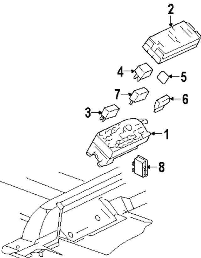 2001 2003 Oldsmobile Aurora Fuse Relay Box 88953295