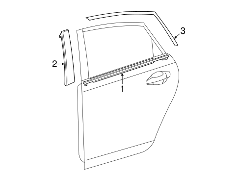 BODY/EXTERIOR TRIM - REAR DOOR for 2015 Toyota Prius V #1