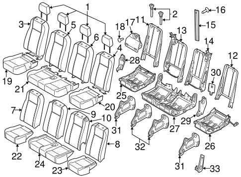 Body/Rear Seat Components for 2015 Ford Transit-150 #1