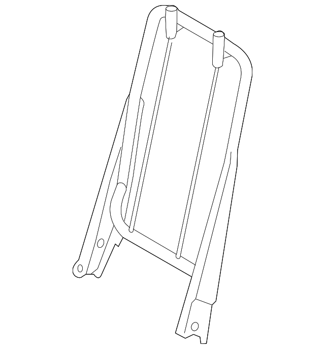 frame - rear seat back retaining