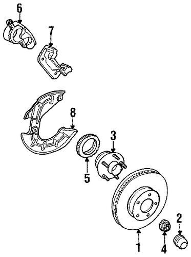 Brakes/Front Brakes for 1996 Ford Mustang #1