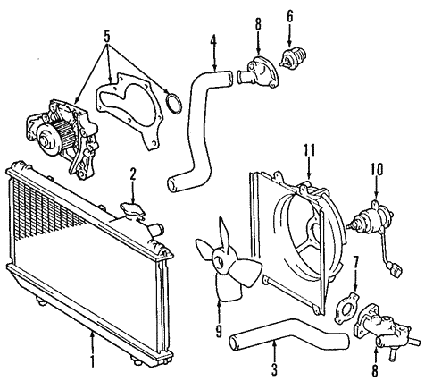 Radiator Coolant Hose-Molded Coolant Hose Lower fits 01-05 Toyota RAV4 2.0L-L4