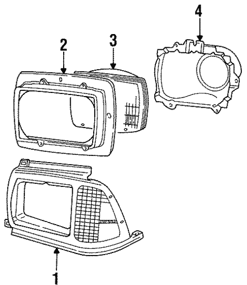 Headlamp Components for 1987 Ford Aerostar #0