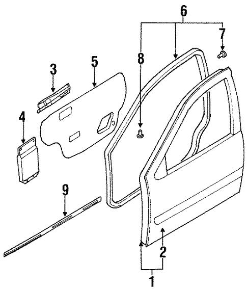 Door Components For 1997 Nissan Maxima