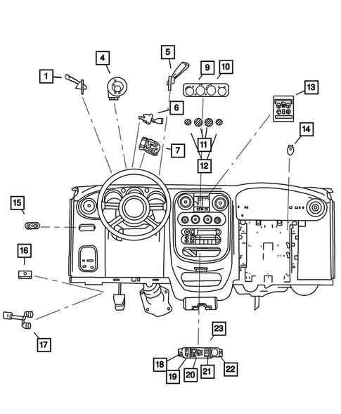 Chrysler pt cruiser 2.0 heater control switch knob big