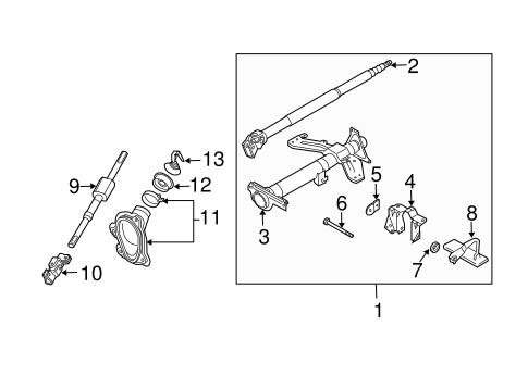 steering/steering column assembly for 2006 infiniti g35 #1