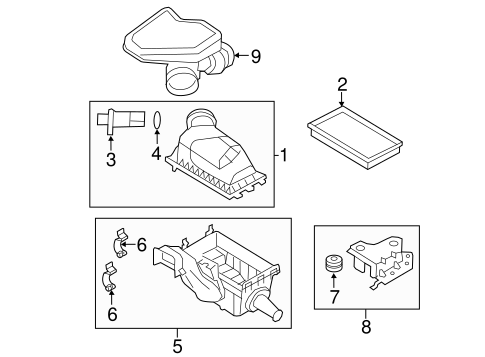 filters for 2011 lincoln mkx oem ford parts. Black Bedroom Furniture Sets. Home Design Ideas
