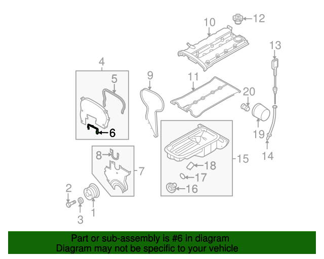 Upper Timing Cover Gasket Gm 96351470 Gmpartsnow