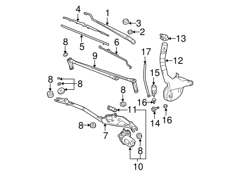 2009 gmc acadia wiper with Gm Wiper Arm 15948719 on 1968 Gmc Truck Wiring Diagrams besides Instrument panel pass key fuse furthermore Gm Wiper Arm 15948719 besides Gm Wiper Blade 15941735 further 2007 Kia Sorento Wiper Relay Location.