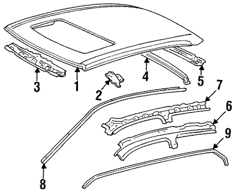 BODY/ROOF & COMPONENTS for 1998 Toyota Avalon #1