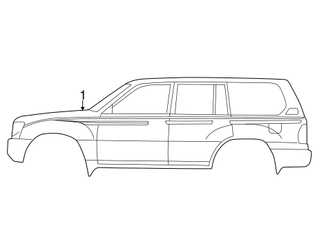 BODY/STRIPE TAPE for 2000 Toyota Land Cruiser #1