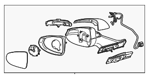 Mirror Assembly - GM (22931855)