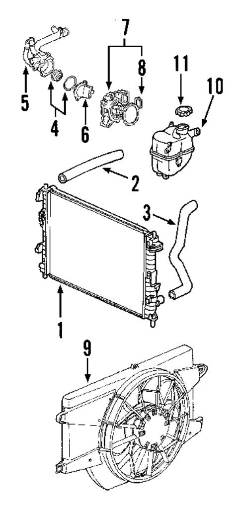 Radiator Amp Components For 2006 Saturn Vue Gmpartsdirect Co