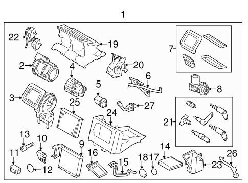 Evaporator & Heater Components for 2013 Volvo S60
