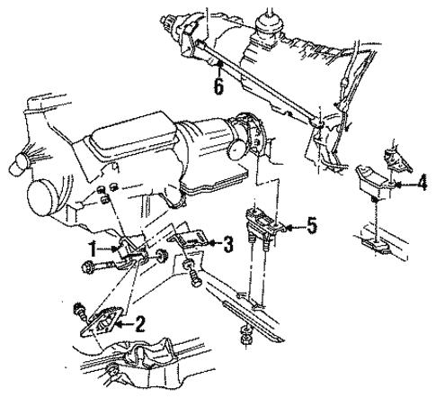 [SCHEMATICS_48IS]  Engine Mounting for 1992 GMC Sonoma | GMPartOnline | 1992 Gmc Sonoma Engine Diagram |  | GM Parts Online