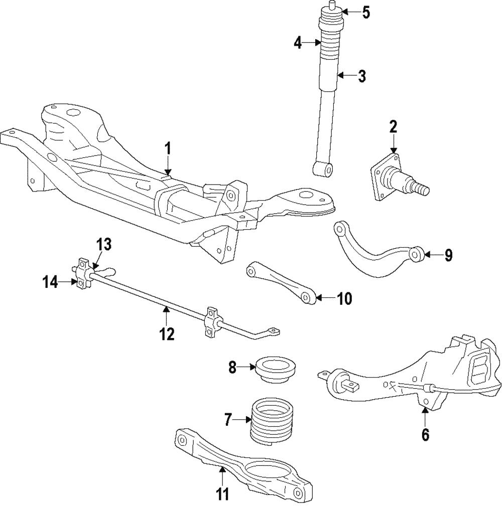 Genuine Ford Ft Lower Control Arm Ys4z5500da: 2005 Ford Focus Trailing Arm Diagram At Chusao.net