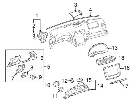 Instrument Panel Components for 2007 Lexus IS250 #0