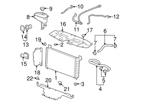 radiator components parts for 2011 gmc sierra 1500 gm. Black Bedroom Furniture Sets. Home Design Ideas