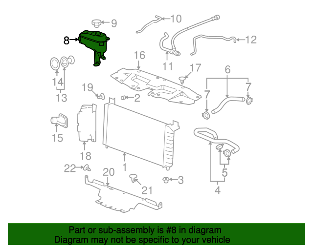 GM OEM-Radiator Coolant Overflow Recovery Tank Cap 25731418