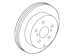 Disc Brake Rotor - Toyota (42431-0R010)