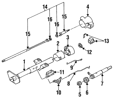 Steering Column Assembly for 1996 Buick Roadmaster | Camp