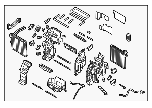 AC & Heater Assembly - Kia (97205-B0311)
