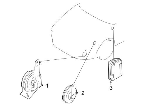 Horn For 2003 Mitsubishi Galant Es