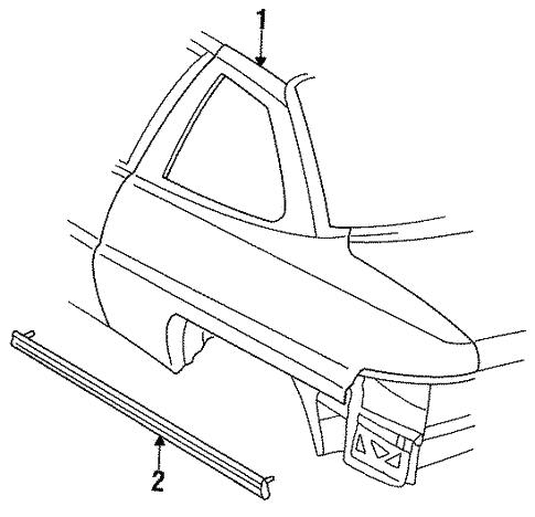 Quarter Panel Components For 1997 Buick Skylark