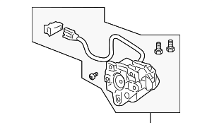 Actuator Assembly, R (R1400) (Heated) - Honda (76210-SEA-E21)