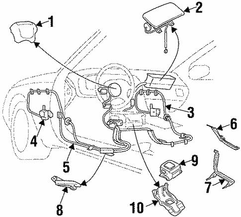 Air Bag Components For 1997 Subaru Svx