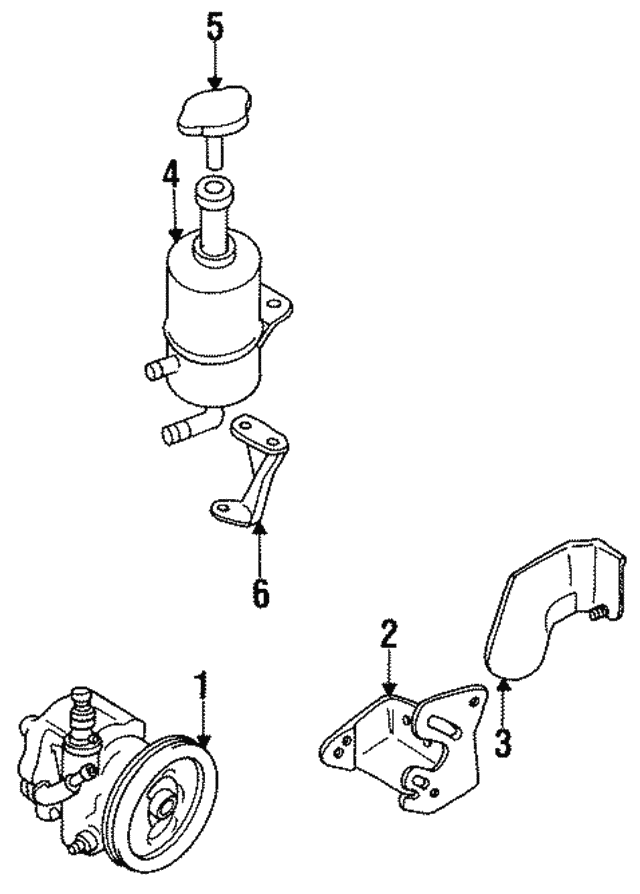 mitsubishi power steering pump reservoir mb844202 oemmitsubishiparts 1994 Nissan 300ZX Engine Diagram power steering pump reservoir mitsubishi mb844202