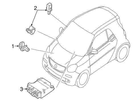 Air Bag Components for 2018 Smart Fortwo #0