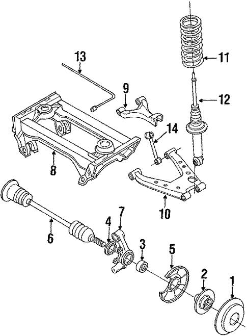 genuine oem rear brakes parts for 1992 mazda miata base rh realmazdaparts com Turbo Miata Engine Engine Driven Supercharger for Honda