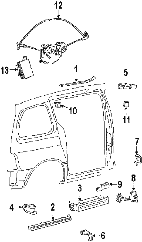 Door Hardware for 2000 Ford Windstar #0