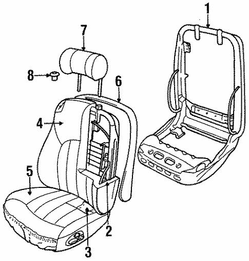 Front Seat Components For 1996 Jaguar Xj6