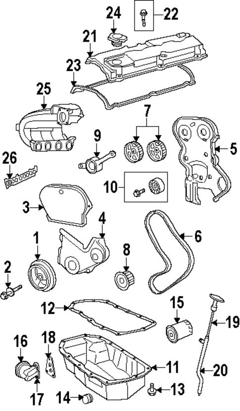 engine parts for 2005 chrysler pt cruiser