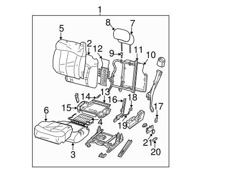 Oem 2001 Chevrolet Silverado 1500 Front Seat Components Parts
