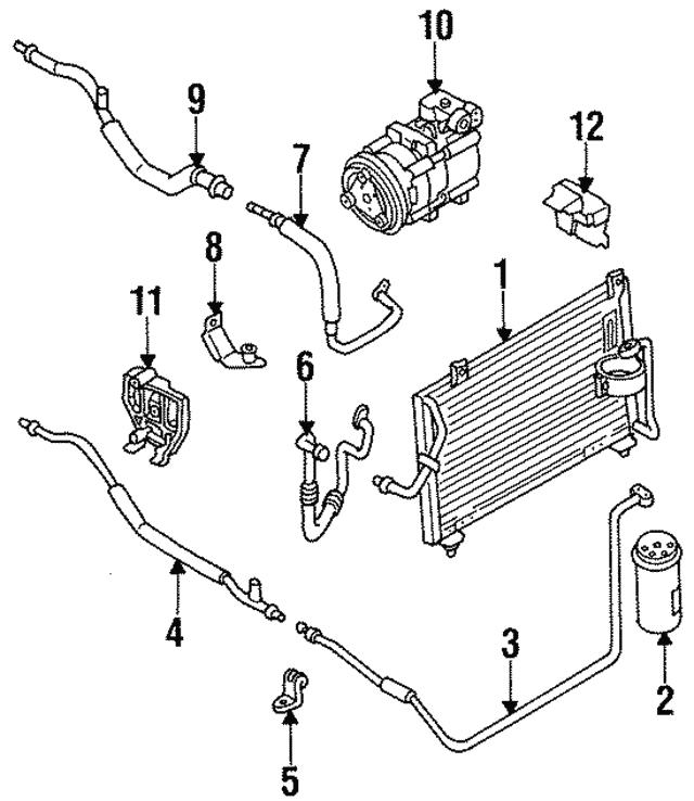 1994 1997 Kia Sephia Condenser 0k241 61480d
