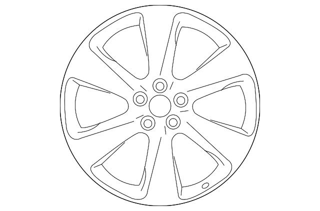 2017 Infiniti Qx70 Wheel Alloy D0c00 1a52d
