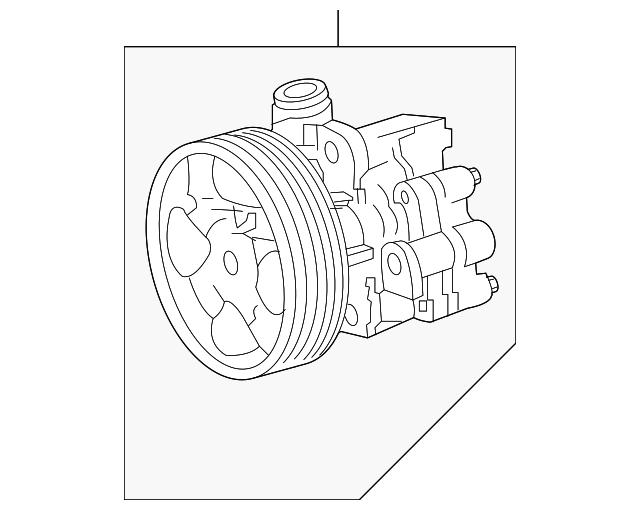 2008 2009 Toyota Sequoia Power Steering Pump 44310 0c100