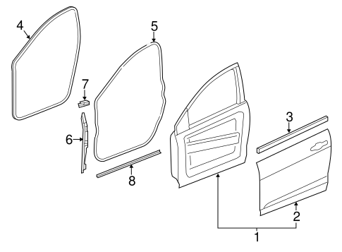 Door Components For 2014 Dodge Dart