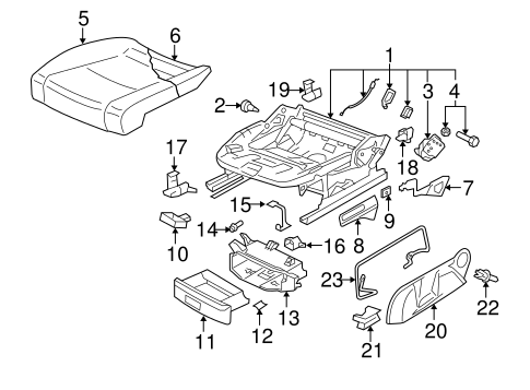 Front Seat Components For 2006 Volkswagen Jetta