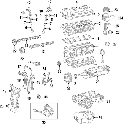 ENGINE/ENGINE for 2015 Toyota Corolla #1