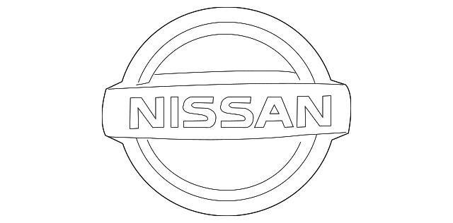 Nissan Genuine 80892-3NA0A Emblem