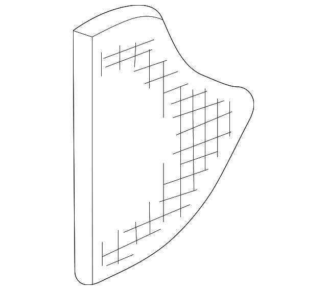 2003-2006 Acura MDX 5-DOOR Grille, L Rear Door Speaker